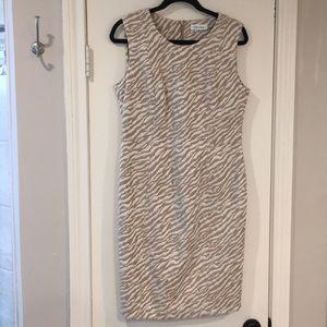 Calvin Kline Animal Print sheath Dress Size 10